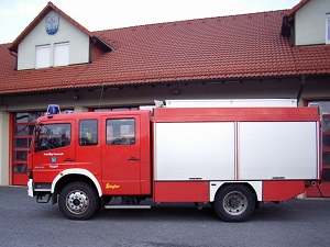 TLF 16/25 - Coswig - Brand Lagerhalle