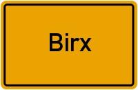 Ortsschild der Gemeinde Birx