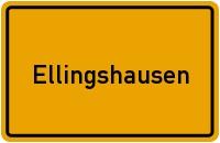Ortsschild der Gemeinde Ellingshausen