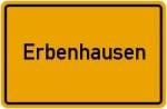 Ortsschild der Gemeinde Erbenhausen