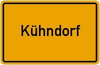 Ortsschild der Gemeinde Kühndorf