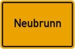 Ortsschild der Gemeinde Neubrunn
