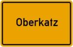 Ortsschild der Gemeinde Oberkatz