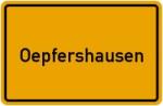 Ortsschild der Gemeinde Oepfershausen