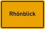 Ortsschild der Gemeinde Rhönblick
