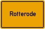 Ortsschild der Gemeinde Rotterode