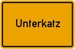 Ortsschild der Gemeinde Unterkatz