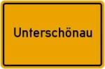 Ortsschild der Gemeinde Unterschönau