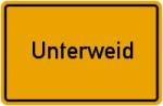 Ortsschild der Gemeinde Unterweid