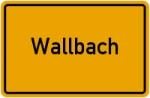 Ortsschild der Gemeinde Wallbach
