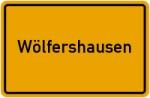 Ortsschild der Gemeinde Wölfershausen